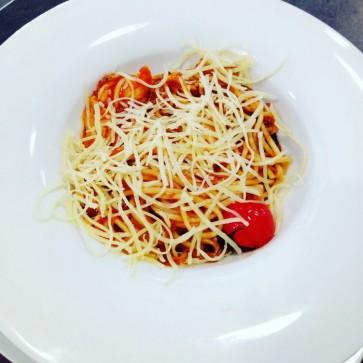 Паста с соусом a la tomatino и лососем 300 г
